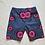 Thumbnail: Standard Cut Patch Pocket Shorts-Pink/Grape Print