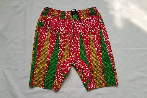 Red Green Yellow Dropcrotch Shorts