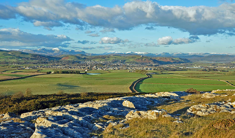 View of Ulverston from Birkrigg