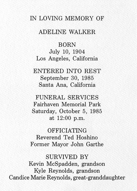 Adeline Walker Memorium Booklet - web pg