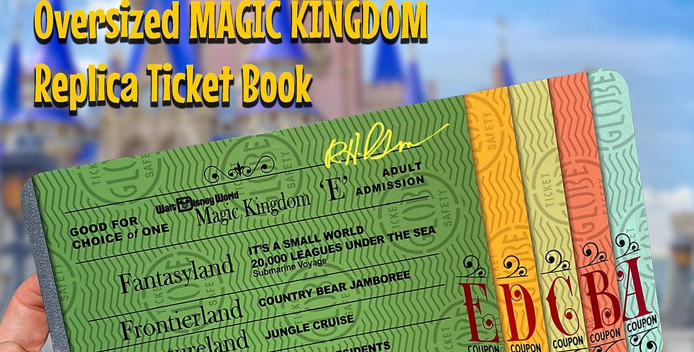 Vintage WDW Attraction Ticket Book