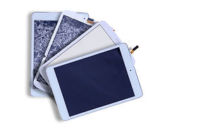 Fanned arrangement of four tablets with