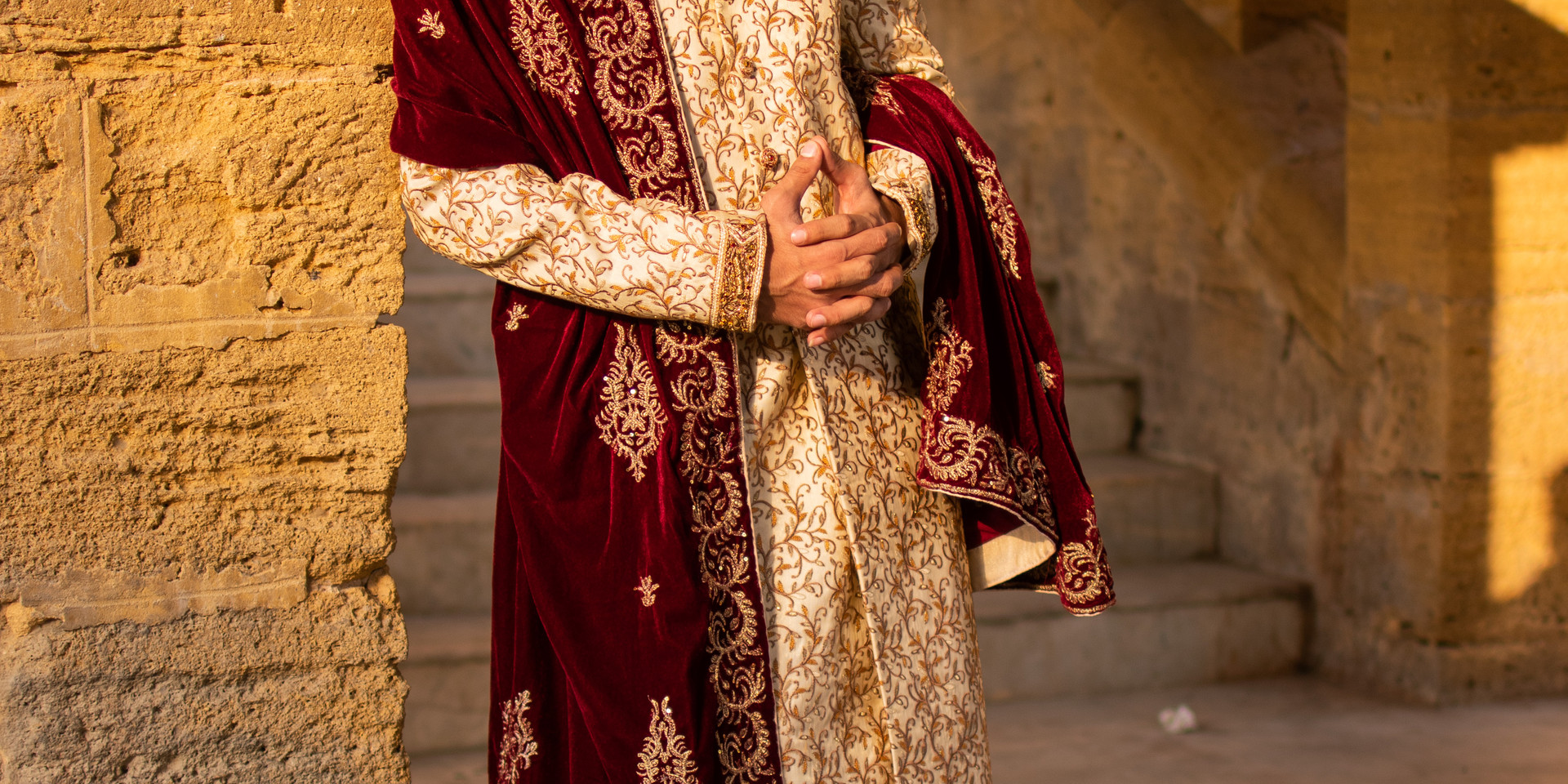 man-in-red-and-golden-marriage-dress-gra