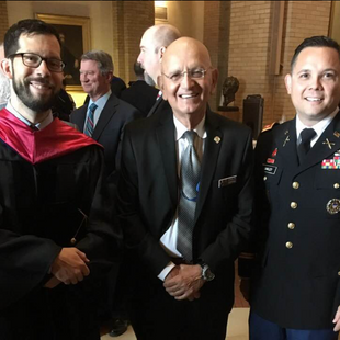 With Friends/Colleagues Dr. David Ucko and General (R) Carlos Ospina at 2019 NDU Graduation