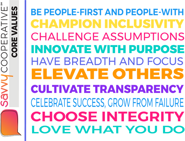 Savvy Cooperative Core Values