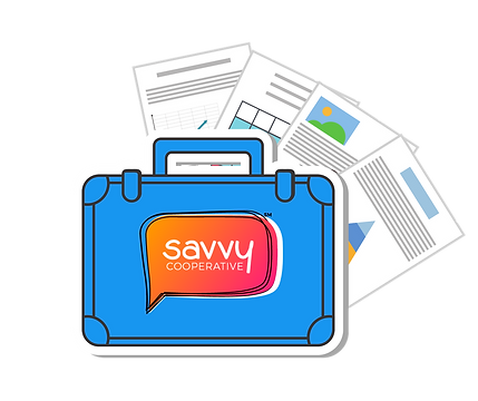 Savvy Toolkit, briefcase with papers