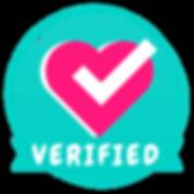 Savvy Cooperative's Verification Badge, a circlular badge with a heart and a check mark