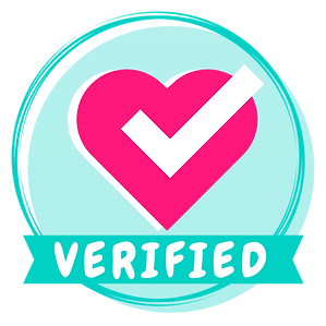 Savvy Cooperative's Verification Badge, a circlular badge with a heart and a check mark