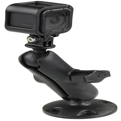 RAM® Composite Drill-Down Mount with Universal Action Camera Adapter