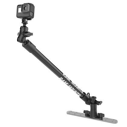 "RAM® Tough-Pole™ 24"" Camera Mount with Single Pipe & Dual Track Base"
