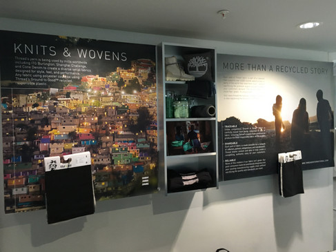 Thread display at Marks & Spencer HQ