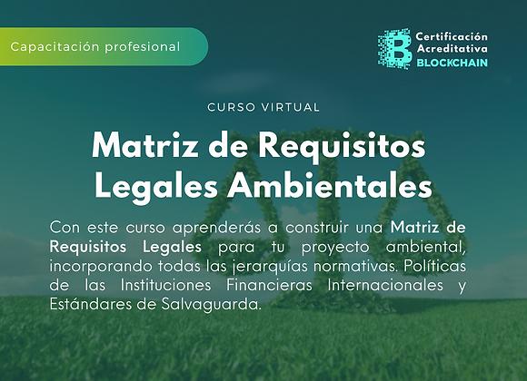 Curso Virtual Matriz de Requisitos Legales Ambientales