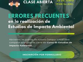 CLASE ABIERTA: Errores en Estudios de Impacto Ambiental