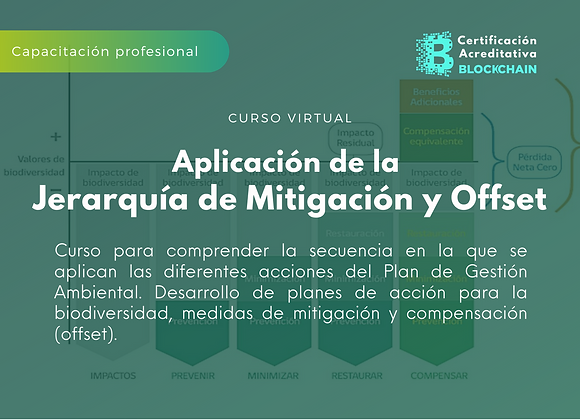Curso Virtual Aplicación de la  Jerarquía de Mitigación y Offset
