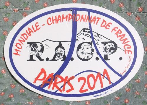 Plaque de chenil - Mondiale 2011