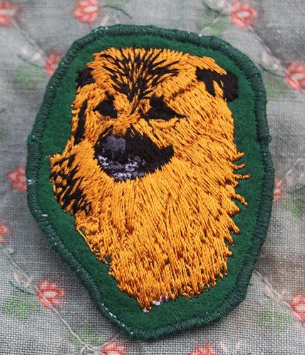 Badge Porte-numéro - Berger des Pyrénées à Face Rase