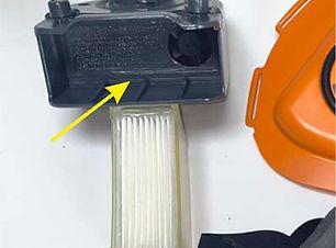 seal inside filter housing