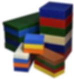 Plastic Solid Colored Blocks