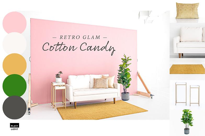 Black and Light Studio Mood Board - Retro Glam Cotton Candy