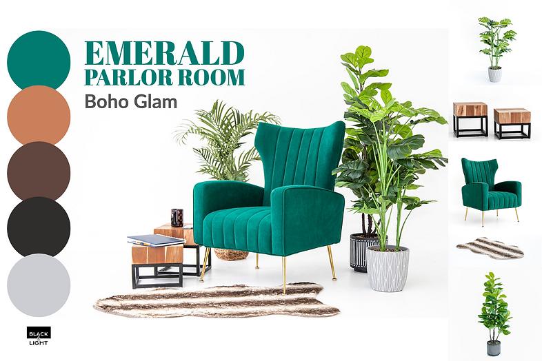 Black and Light Studio Mood Board - Emerald Parlor Room Boho Glam.png