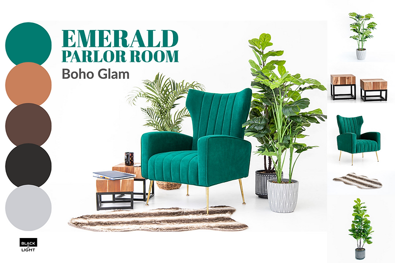 Black and Light Studio Mood Board - Emerald Parlor Room Boho Glam.png