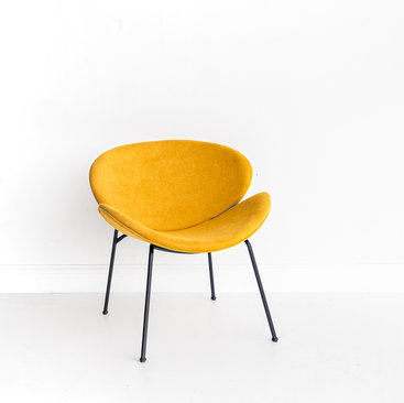 Black and Light Studio Mustard Chair