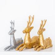 Gold + Silver Reindeer