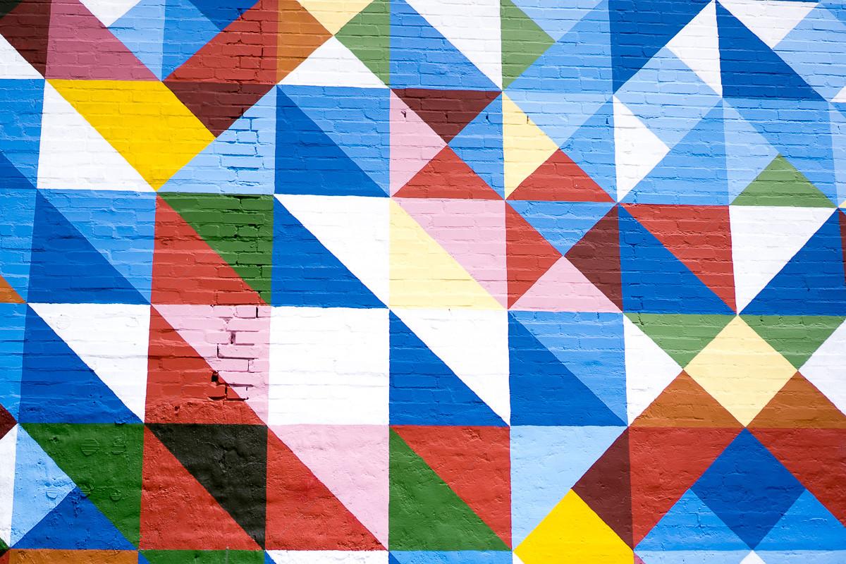 Deep Ellum - Colorful Squares Wall Mural