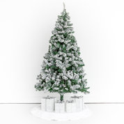 Black and Light Studio 6' Frosted Tree on wheels with skirt and gift props