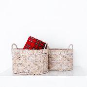 Basket Assortment with Plaid Blanket