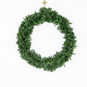 5 ft (HUGE) Wreath hanging on White 8' x 12' Rolling Wall