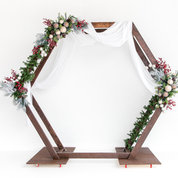Black and Light Studio 8' x 8' Holiday Arch