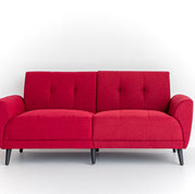 Black and Light Studio Red Modern Sofa