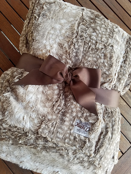 FAWN MOCHA COUTURE THROW