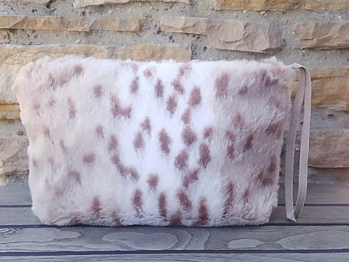 SNOW LEOPARD LUXE ACCESSORY BAG