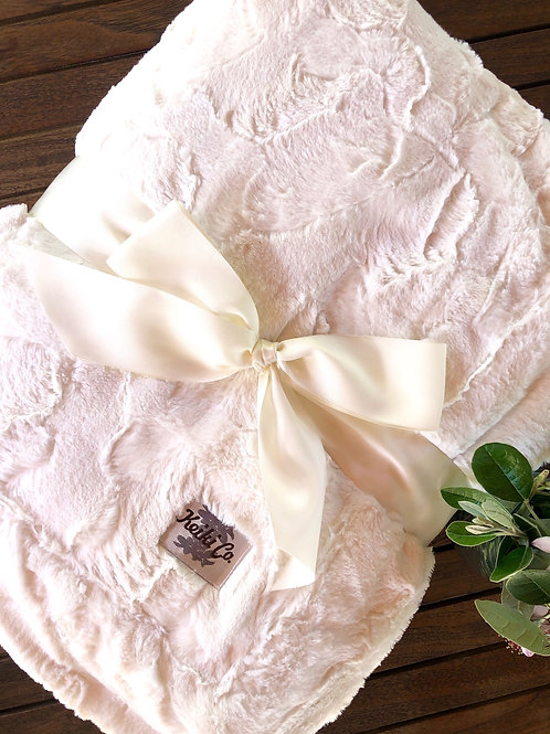 IVORY BELLA COUTURE THROW