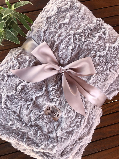 SILVER BELLA COUTURE THROW