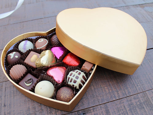 Solid Gold Heart Box 18 Piece