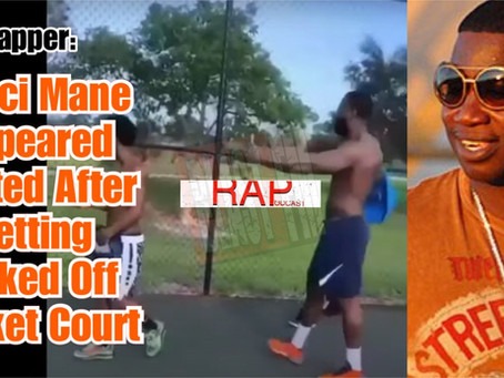 """Gucci Mane"" Appeared Heated After Getting Kicked Off Basketball Court"