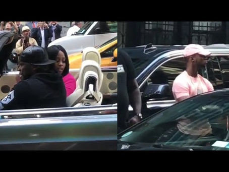 50 Cent & Remy Ma Spotted in NYC Having Conversion in His Rolls-Royce Phantom