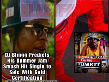 DJ Blingg Predicts His Summer Jam Smash Hit Single to Sell With Gold Certification