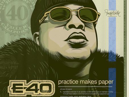 "E-40 Announced New Album Release Date ""Practice Makes Paper"""