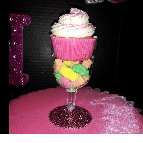 Cupcake candy filled gasses