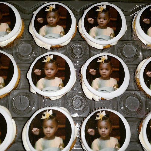 Personalized Picture Cupcakes (12)