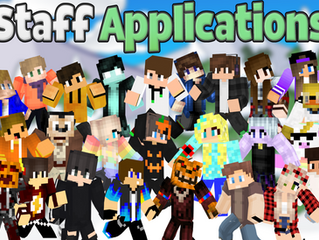 Staff Applications Are Now Open!