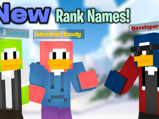 New Rank Changes!