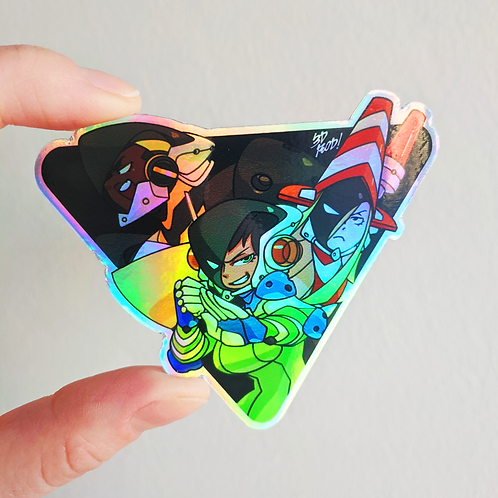 Counter Isekai Corps Holographic Sticker