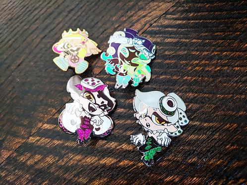 Splatoon Idol Enamel Pins