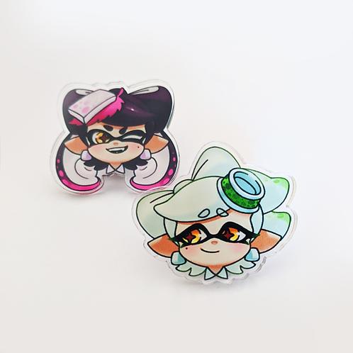 Callie & Marie Acrylic Pins