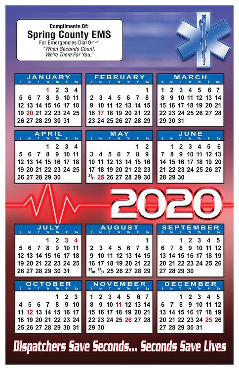 Heartbeat (EMS, EMT, Paramedics) Wall Calendar